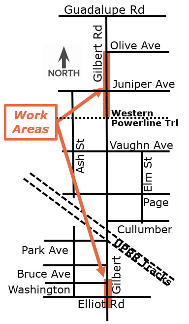 Heritage District Waterline Construction Map