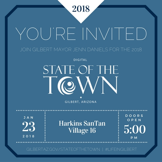 2018 Digital State of the Town Premiere Invitation