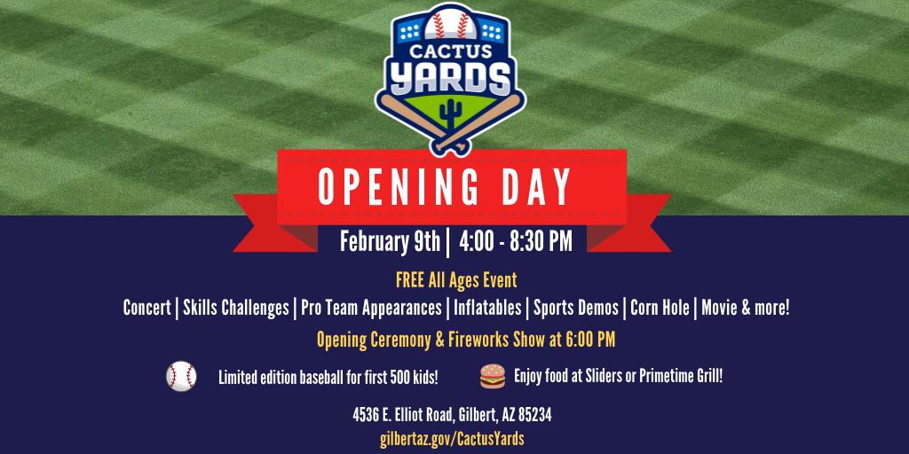 Cactus Yards Opening Day Invitation