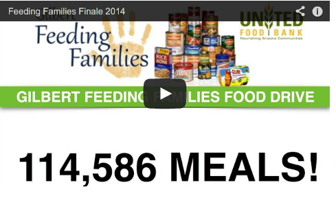 Gilbert Far Exceeds Goal in Collection of Meals for the United Food Bank