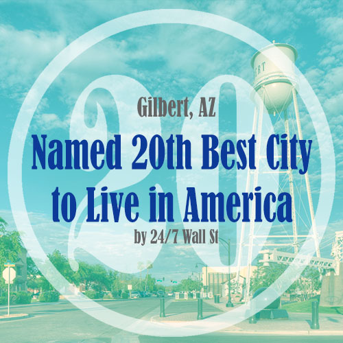 Gilbert Named 20th Best City to Live in America