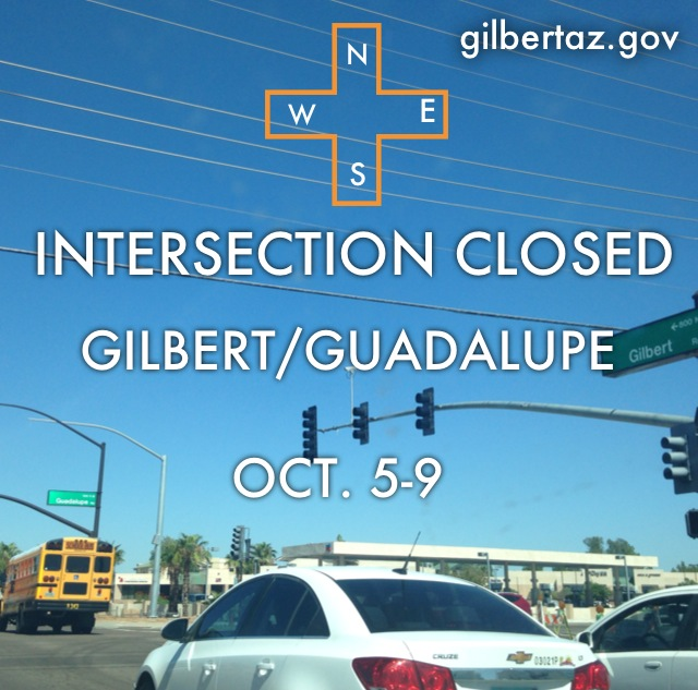 Gilbert/Guadalupe Intersection Closure - Now Open!