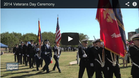 Gilbert Hosts Veterans Day Ceremony