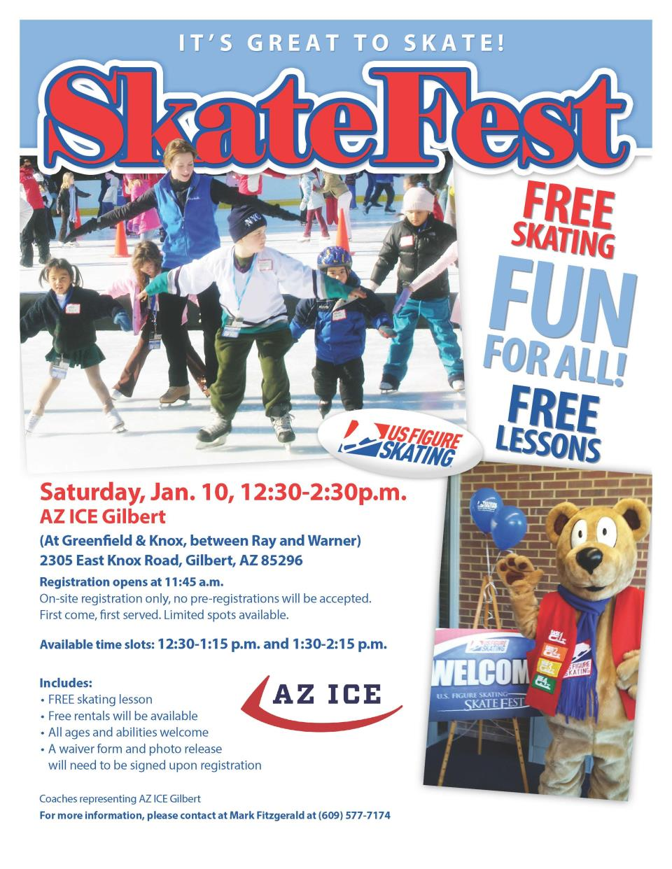It's Skate Fest at AZ Ice Gilbert on Saturday, Jan. 10th