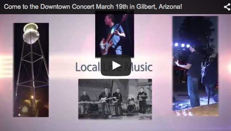 Free Concert in Downtown Gilbert on March 19th