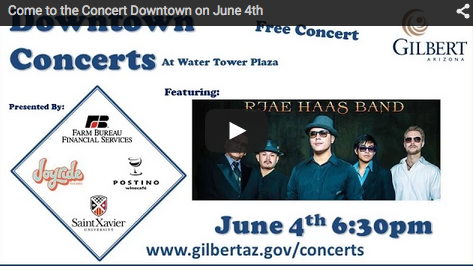 Gilbert to Host Last Free Concert of the Season