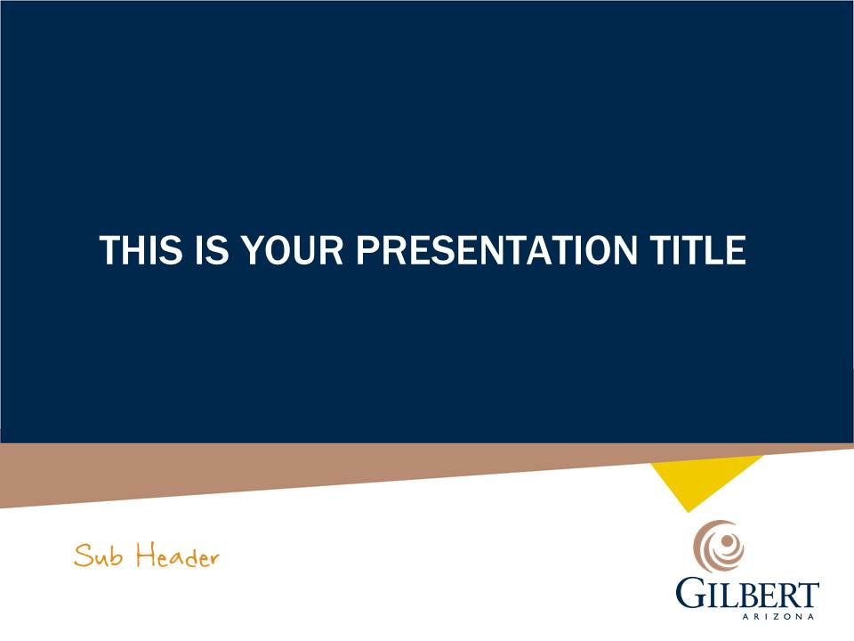 Gilbert Branded PowerPoint Template