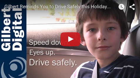 Gilbert Reminds You to Drive Safely this Labor Day Weekend