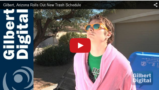 Gilbert to Begin New Trash Pickup Schedules in 2016