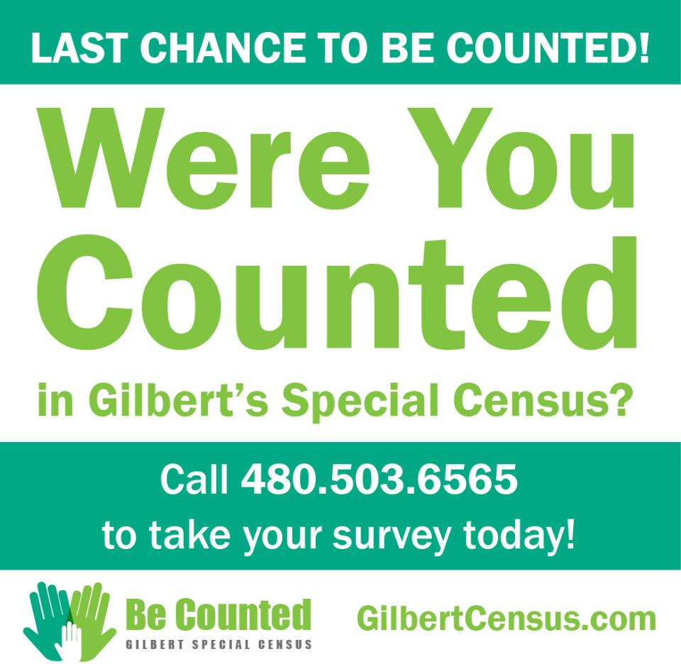 Last Chance to Be Counted in Gilbert's Special Census