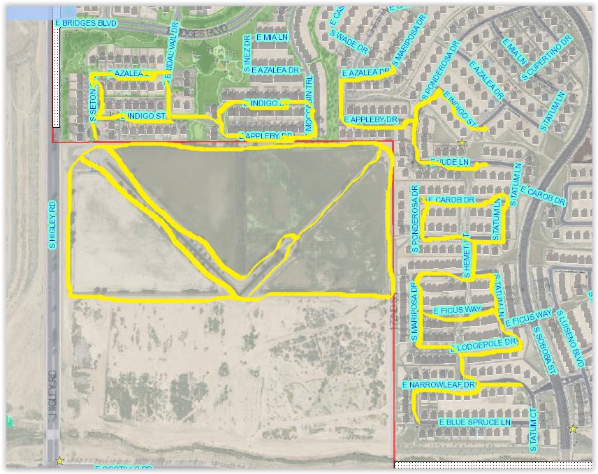 Map Of Arizona Gilbert.Midge Fly Fogging Map Information Gilbert Arizona Nextdoor