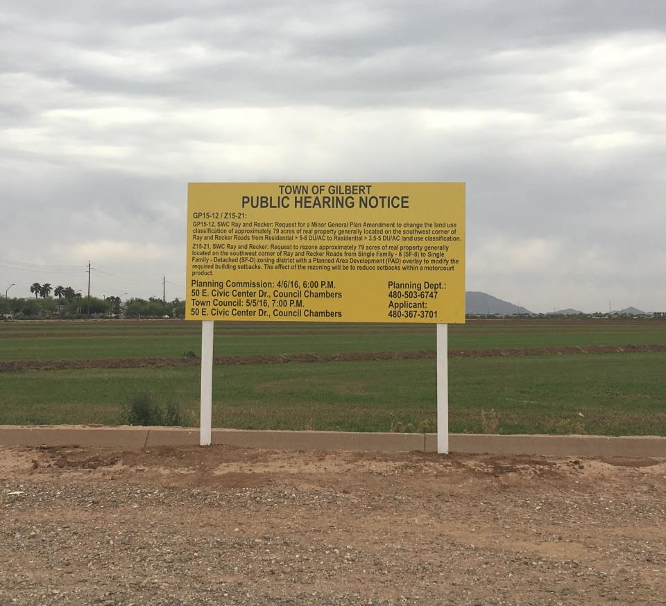 public notice sign - square
