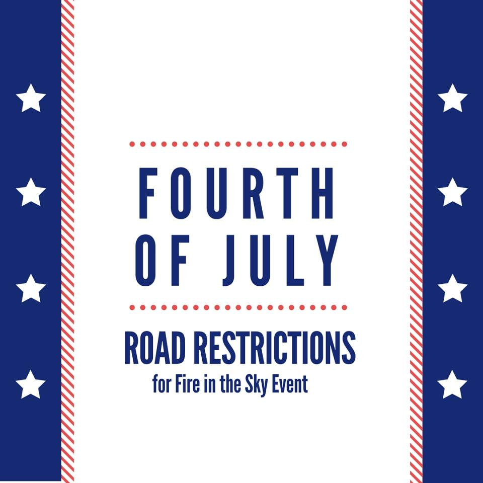 fourth of july road restrictions