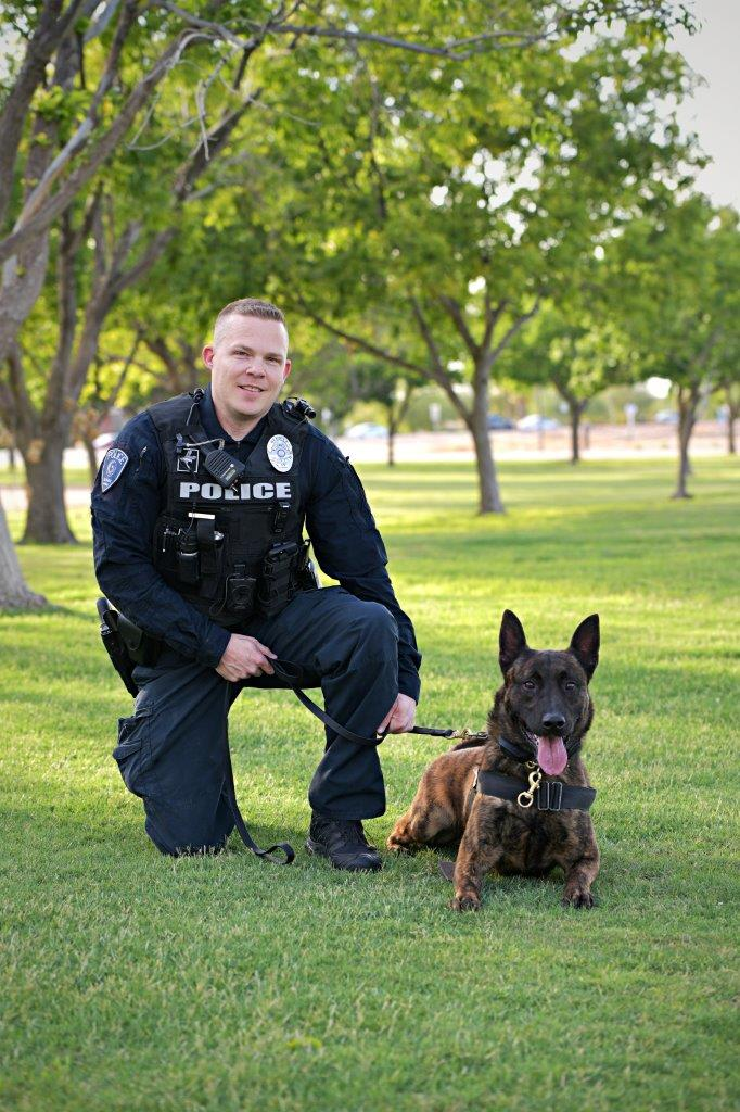 Officer C. Wright and K-9 Bink