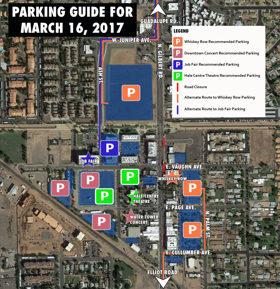 March 16th Parking Map