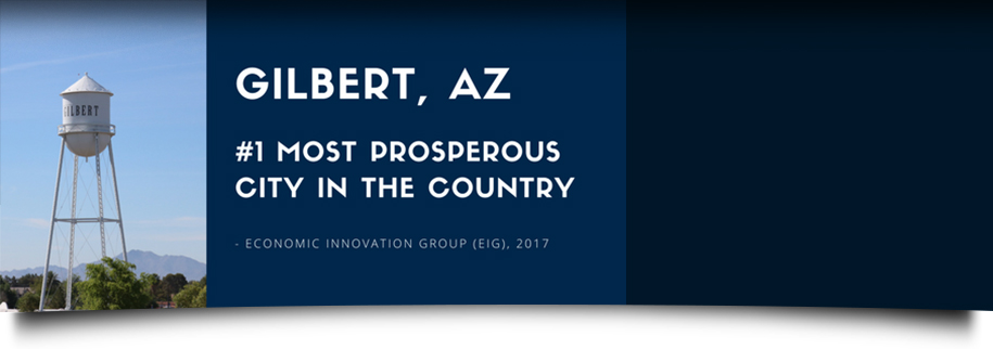 Gilbert, AZ No. 1 Most Prosperous City in the Country - Economic Innovation Group, 2017