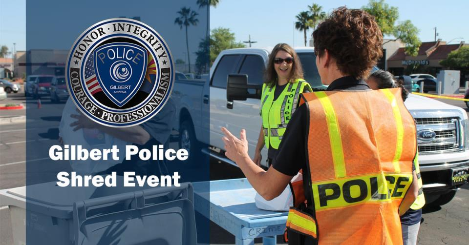 Gilbert Police Shred Event