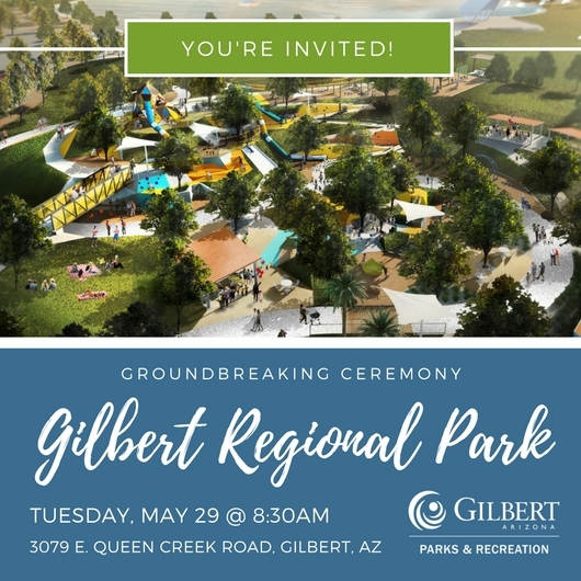 Gilbert Regional Park Groundbreaking Invitation