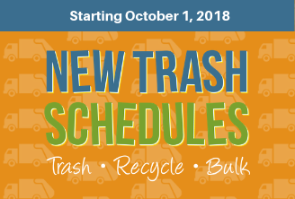 New Trash Schedules Start Oct. 1