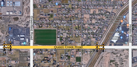Queen Creek & Greenfield Traffic Restrictions