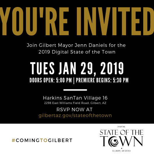2019 Digital State of the Town Invitation
