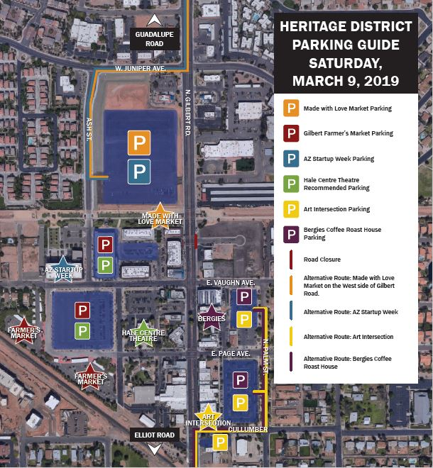 Heritage District Parking Map - March 9th