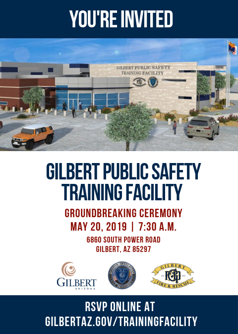 Public Safety Training Facility Groundbreaking Invitation