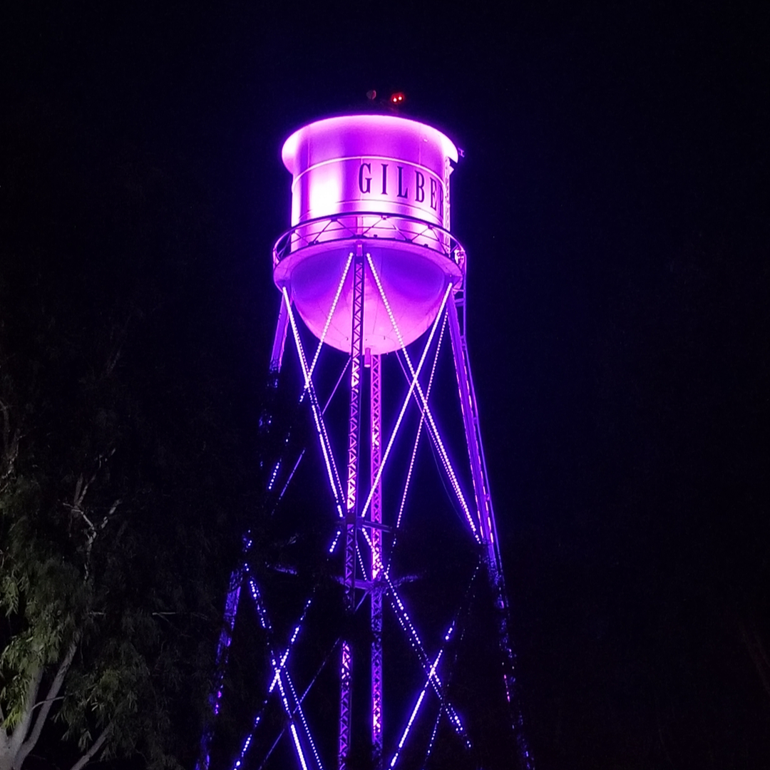 Water Tower purple