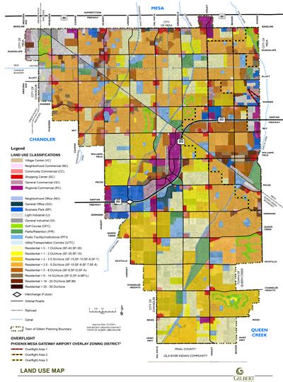 Gilbert Az Map General Plan | Town of Gilbert, Arizona