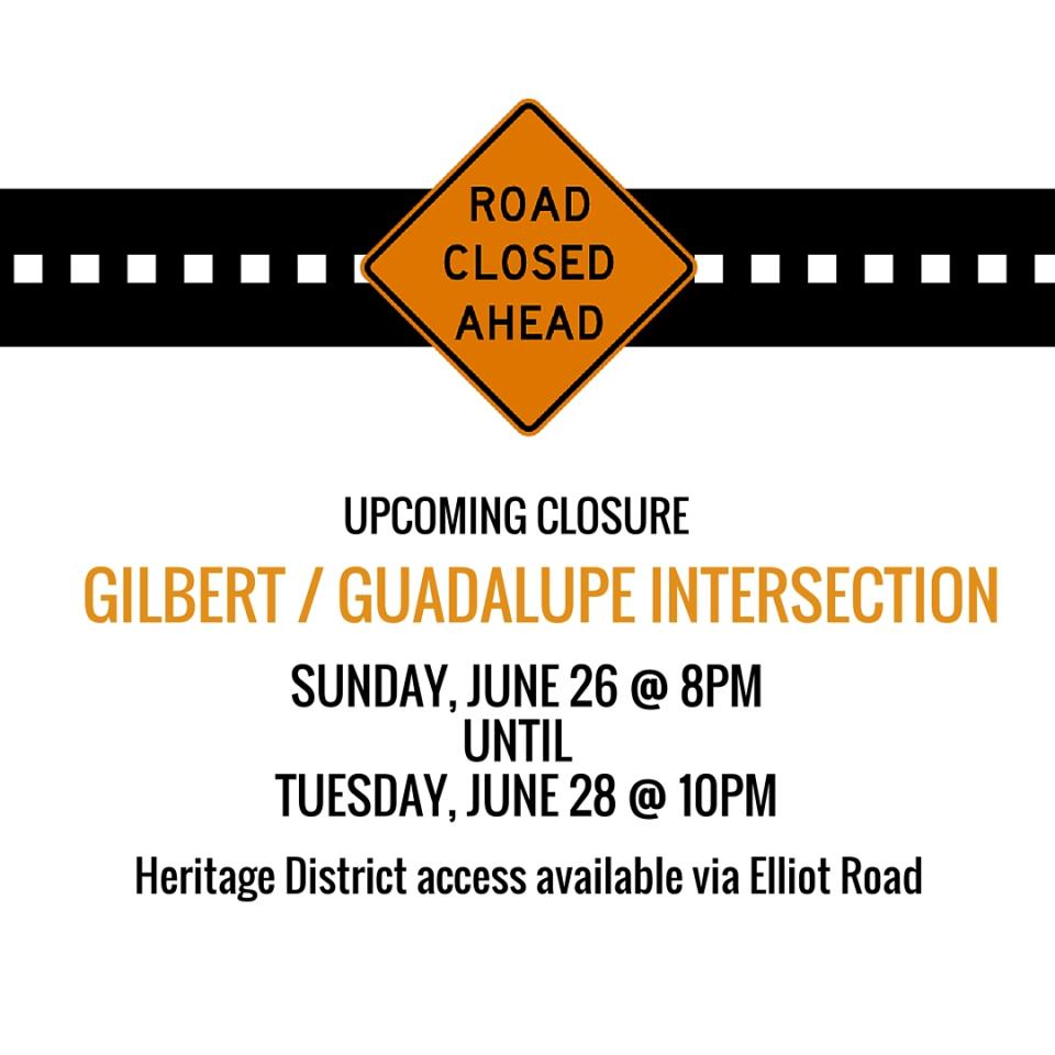 Update: Gilbert/Guadalupe Intersection Now Open | News