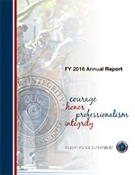 Gilbert Police Department Annual Report FY2016