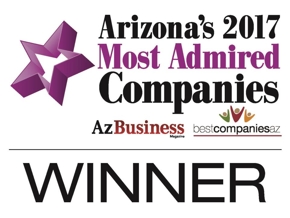 AZ Business: 2017 Arizona's Most Admired Companies Winner