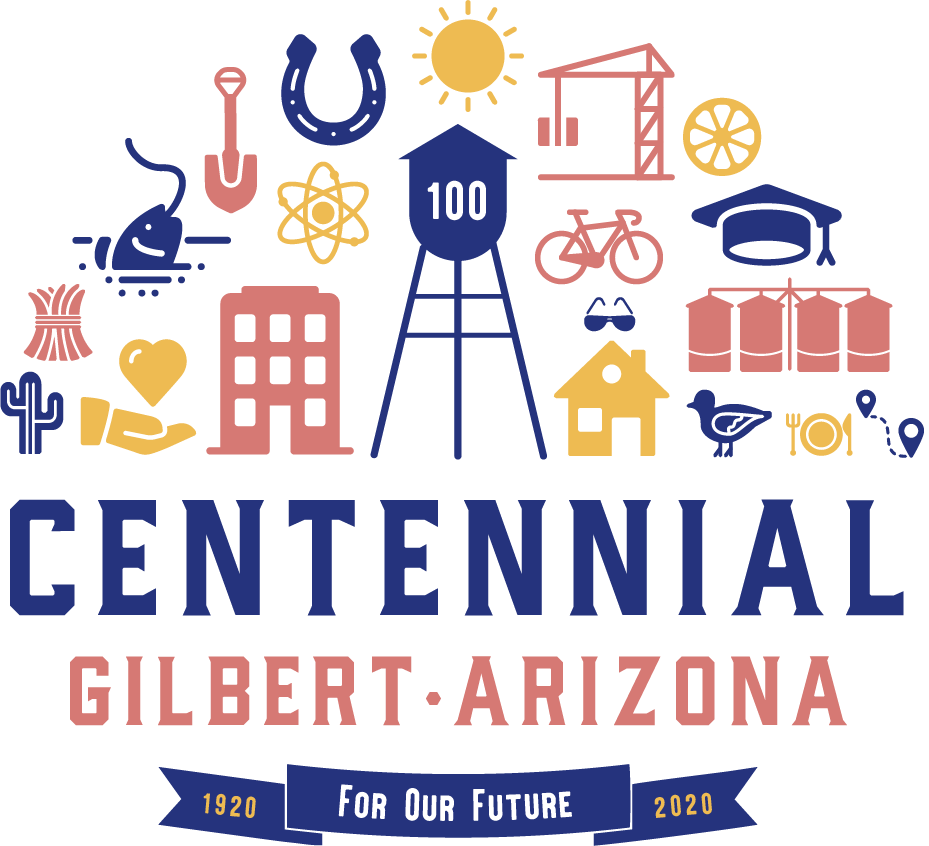 Gilbert Centennial Logo