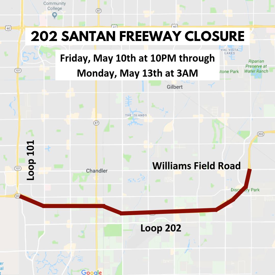 202 Santan Freeway Closure