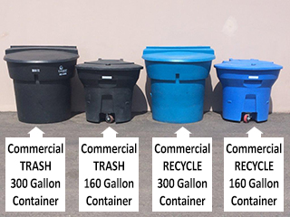Commercial Trash Container Sizes