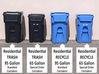 Residential Trash Container Sizes